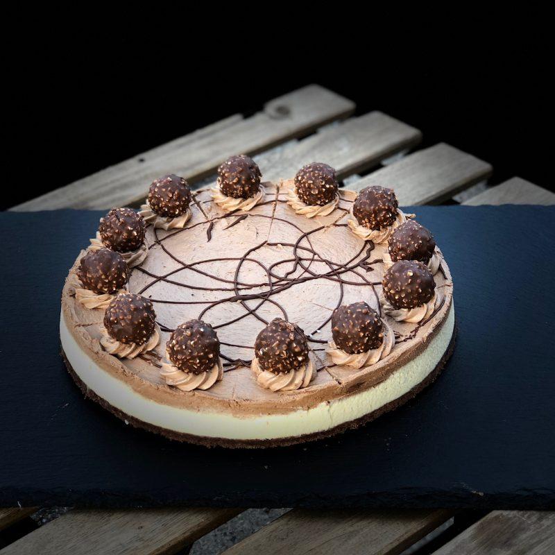 Cheesecake med Ferrero Rocher